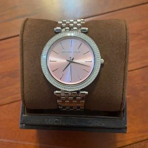 Brand New Silver and Pink Michael Kors Watch